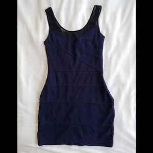 Navy Express bodycon dress